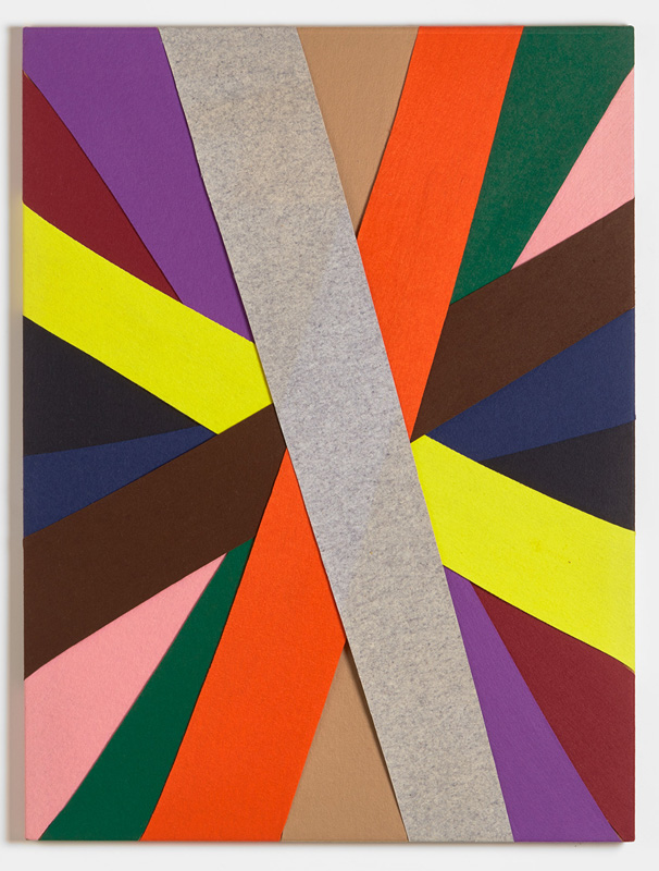 Untitled, (Constructions of Coloured Rays), 1994 Felt on modern stretcher  122 x 91.5 cm