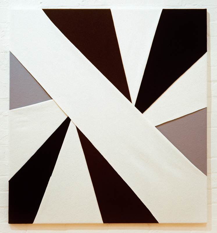 Untitled, (Constructions of Coloured Rays), 1993 Felt on modern stretcher  122 x 112.5 cm