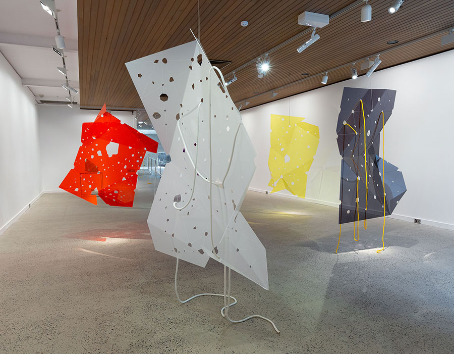 Installation view, Inside Out: Space and Process, McClelland Gallery, 2020
