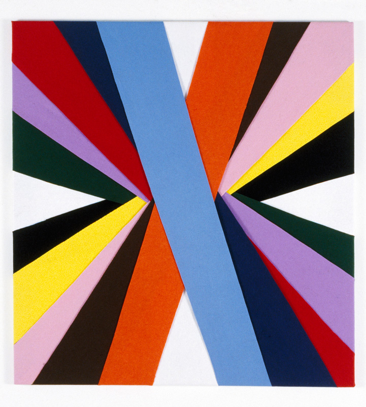 Untitled, (Constructions of Coloured Rays), 1994 122 x 112.5 cm Felt on modern stretcher  Collection, National Gallery of Victoria