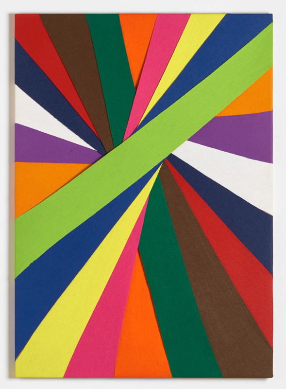 Untitled, (Constructions of Coloured Rays), 1993 Felt on modern stretcher  122 x 86 cm