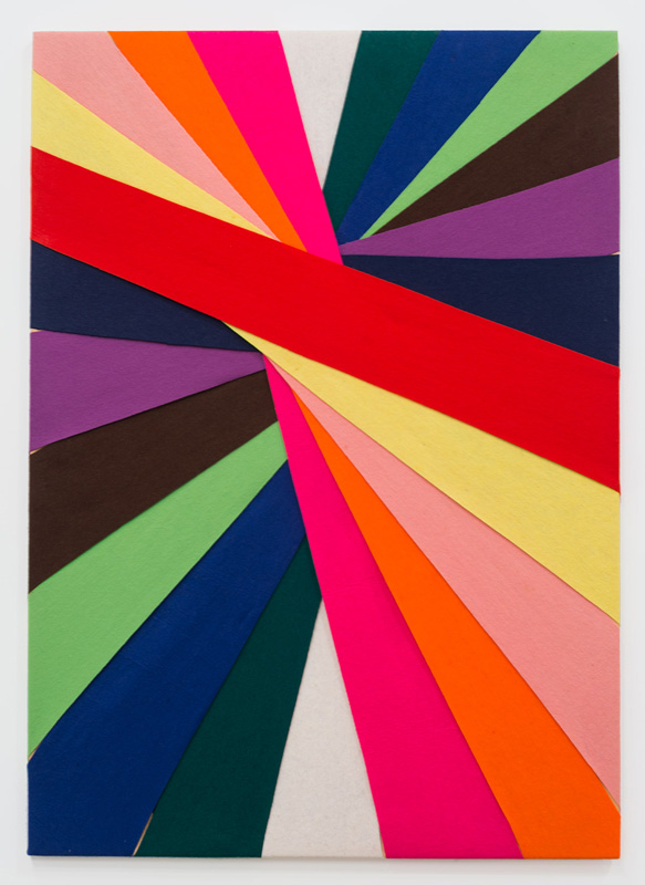 Untitled, (Constructions of Coloured Rays), 1993 Felt on modern stretcher 122 x 86 cm Collection, Art gallery of Western Australia